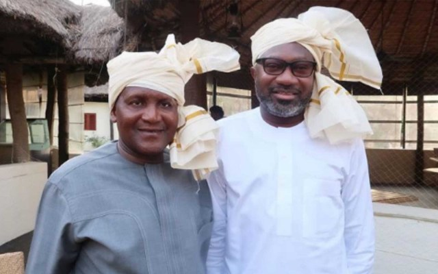 Dangote and Otedola, Super Eagles