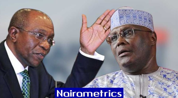 Central Bank of Nigeria, Emefiele replies Atiku