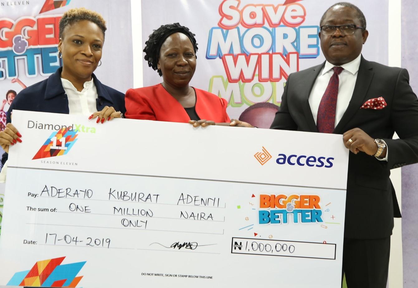 Access Bank and Diamond Bank reward winners in Diamond Xtra monthly draw
