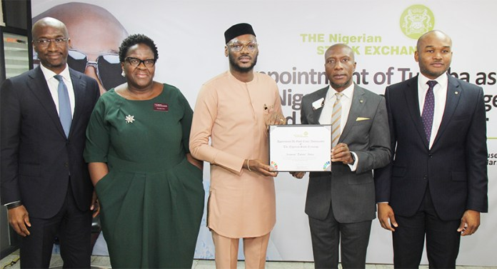 2face unveiled as NSE ambassador in Lagos