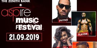 Zenith Bank's aspire music festival debuts in Lagos features Nigeria's top artistes, All set as Lagos awaits Zenith Bank's Aspire Music Festival