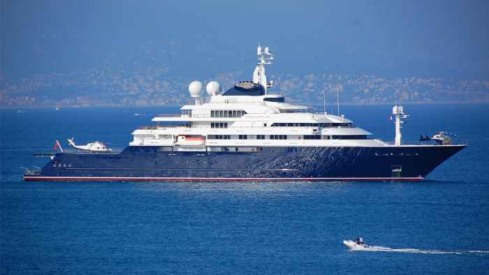 This billionaire's yacht is up for sale for$326 Million