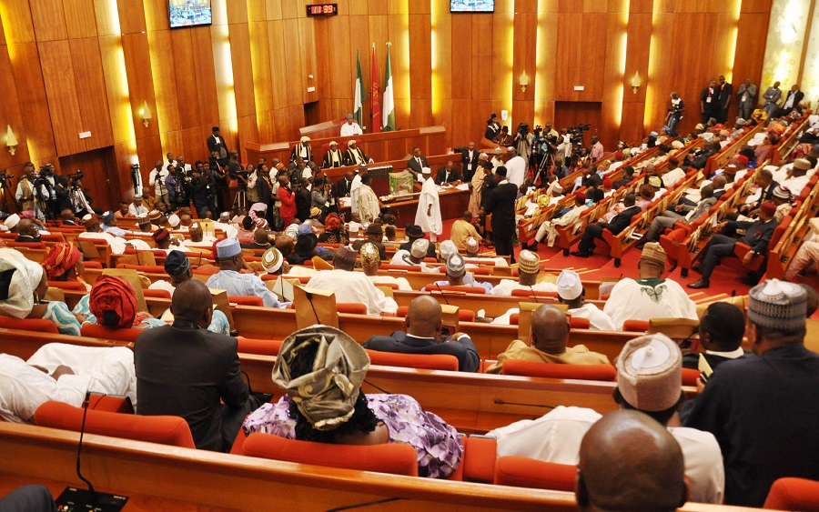 Senate urges FG to diversify from crude oil to natural gas production , Senate seeks textile importation ban , Senate receives six aviation sector bills from Buhari , PenCom: Constitute a board, NASS and pension operators tell FG