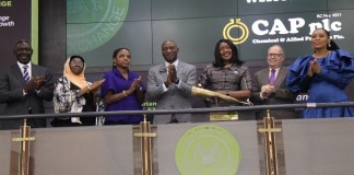 CAP Plc's new board on courtesy visit at the NSE