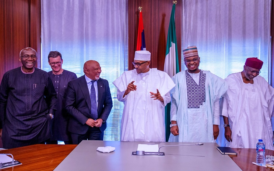 After settling dispute with FG, MTN Group's board pays President Buhari a visit | Nairametrics