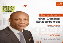 GTBank's MD/CEO, Segun Agbaje to speak at Social Media Week on Thursday, February 27, 2020