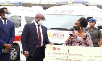 COVID-19: Lagos receives N200 Million, 5 ambulances from BUA Foundation