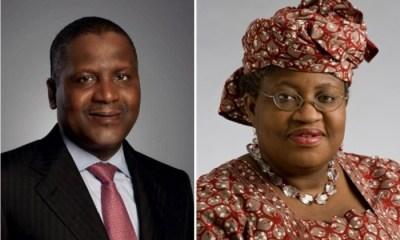 WTO: Dangote endorses Ngozi Okonjo-Iweala