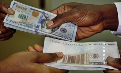 Naira stabilizes at black market as CBN continues its intervention in forex market