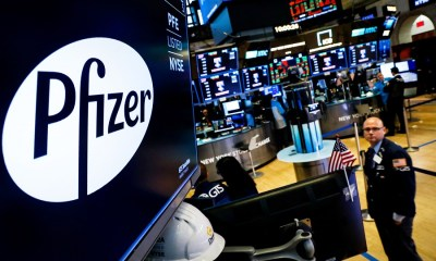 Pfizer's COVID-19 vaccine boosts U.S Stocks