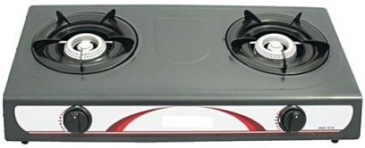 Gas cooker with 2 burners