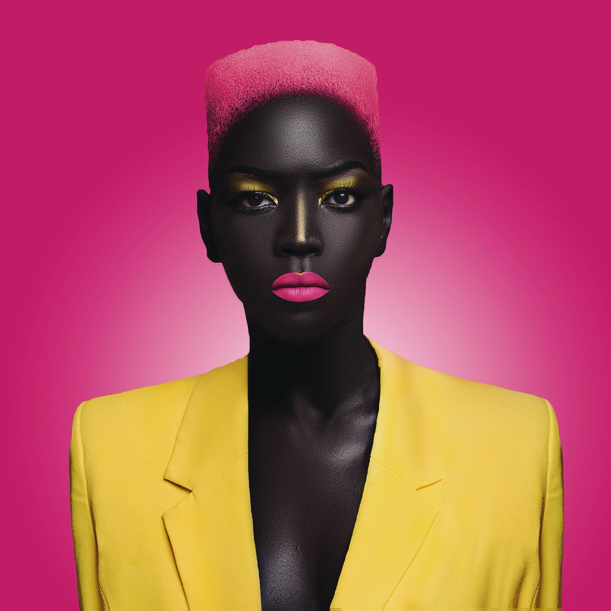 Sudanese Model Nyakim Gatwech Enters Guinness Book Of Records For Having The Darkest Skin Tone On Earth