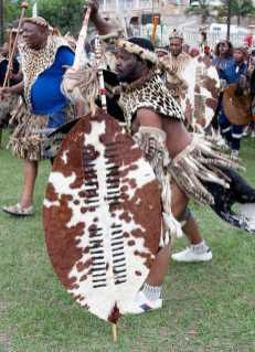 Zulu warriors during Heritage Day celebrations. (Photo by Gallo Images/Photo by Khaya Ngwenya/Gallo Images via Getty Images)GALLO IMAGES