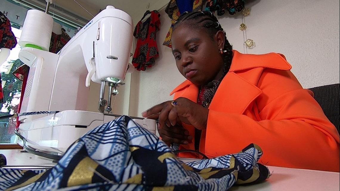 Nathalie Bajinya Fashion Designer From Congo Celebrate her New-found joy inLakewood.