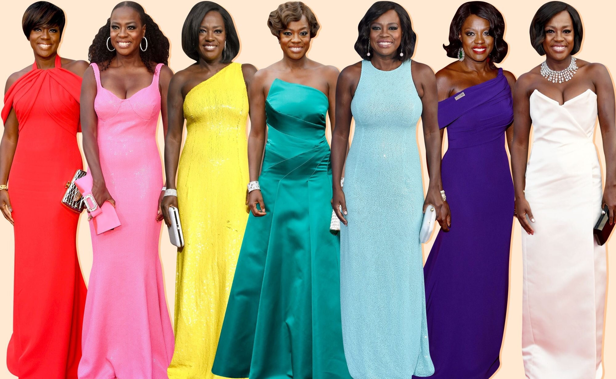 How Viola Davis Won Awards Season with her Colorful Red Carpet Style