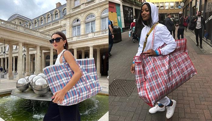 Luxury Brand Balenciaga's $3000 take on the Plastic Storage Bag, Commonly Know as Osuofia Bag