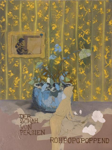 """Rohrpost"", Mixed Media, 90 x 120 cm, 2016"