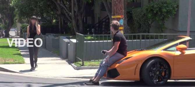【実験映像】高級車に乗ってるとカンタンにナンパできる? ⇨ 驚きの結末へ!?