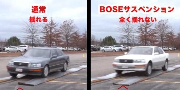 音響メーカーBOSEが開発したサスペンション凄すぎ!悪路でも車が全く揺れず超快適ドライブ!
