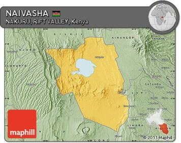 Fancy savanna style map of NAIVASHA.