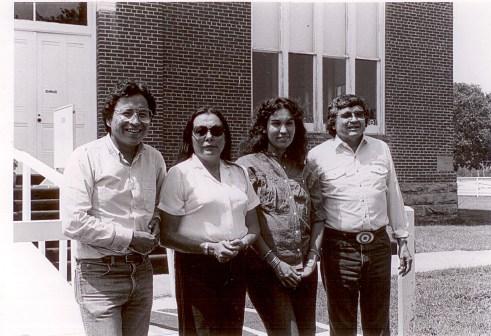 Founding executive committee members Loren Tapahe (vice president), Mary Polanco (secretary), Anita Austin (treasurer) and Tim Giago (president)