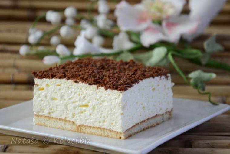 Super brzi kolač sa keksom i puding kremom [VIDEO]