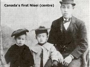 Canada's first Nisei (centre)