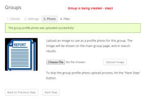 creating group step 3