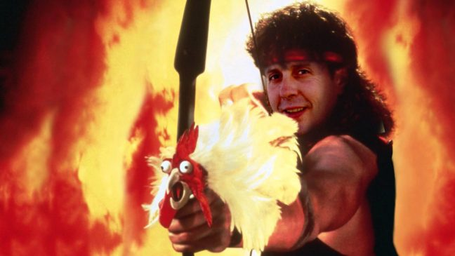 Rambo en Acorralado o ¿Charlie Sheen? en Hot Shots