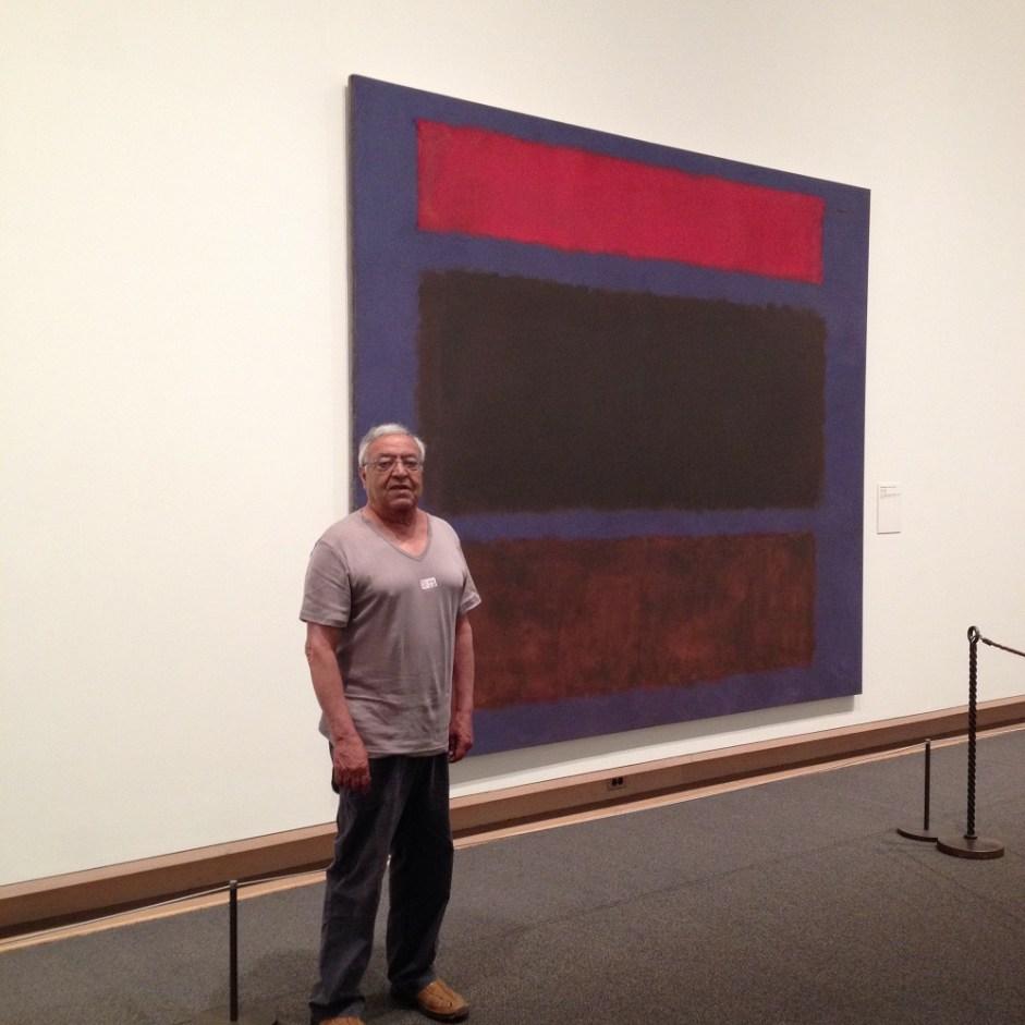 Au MOMA à New York devant une toile de ROTHKO