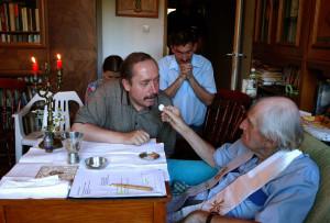 Czesław Czapliński, ks.Jan Twardowski, Anin, fot. Ryszard Twarowski