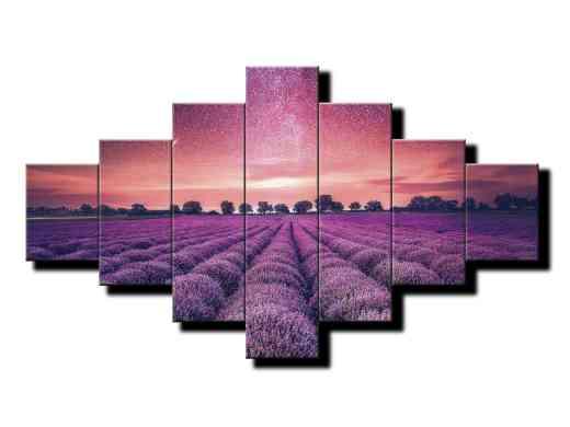 7 dielny obraz na stenu Fialové levandulové pole