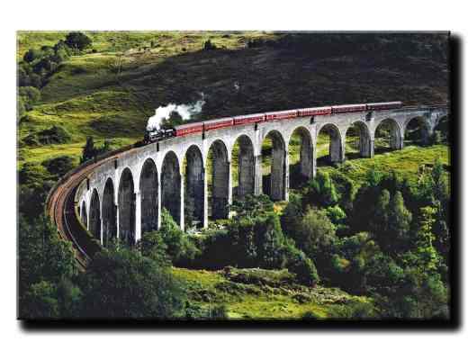 Obraz na stenu Vlak na moste