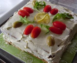 Tort kanapkowy inspirowany Marokiem