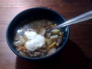 Zupa grzybowa opieńkowa