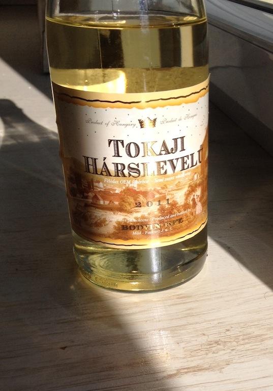 Tokaji Hárslevelű - wino białe, półsłodkie, Bodvin, 2011