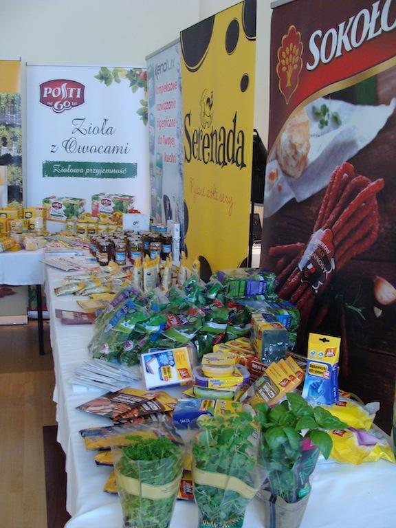 Bloger Chef 2014 - Produkty sponsorskie, które służyły m.in.do drugiej konkurencji