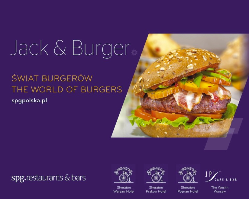 Jack and burger - sezonowe menu w Some Place Else, Sheraton, fot. Sheraton