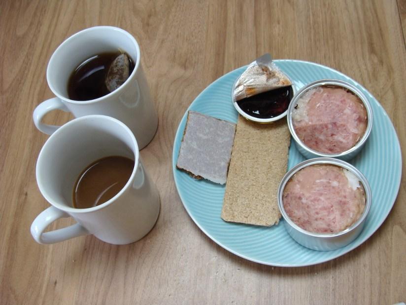 Racja żywnościowa Państwowej Straży Pożarnej - śniadanie