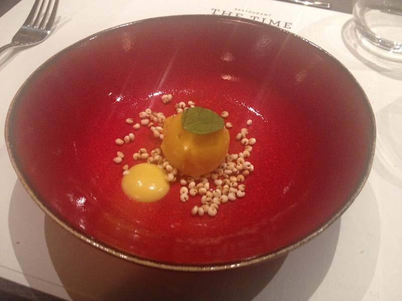 Restauracja The Time w Poznaniu - sorbet mango i limonka