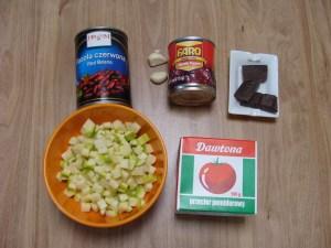 Wegetariańskie chilli sin carne - składniki