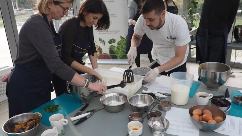 Warsztaty Smaki Wisły - Pałac Wilanów - robimy ciasto