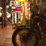 The night owl on motorcycle