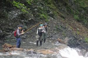 南アルプス深南部で「FREE LIGHT(フリーライト)のオーナー高橋氏」と、 「outdoorstore nero(アウトドアストア・ネロ)のオーナー大武氏」が、 参加してくれる、恒例の夏の大冒険。キレイなヤマトイワナが釣れました。