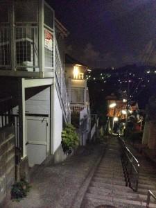 下り階段とAP