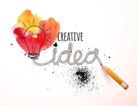 45067223 - creative idea loaded, vector concept for inspiration