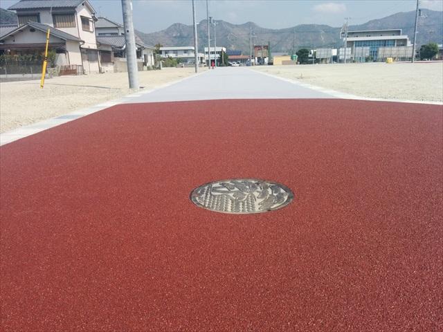 高砂市阿弥陀小学校跡地道路舗装 (2)