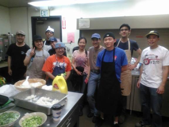 Volunteering in JCCCNC Kitchen
