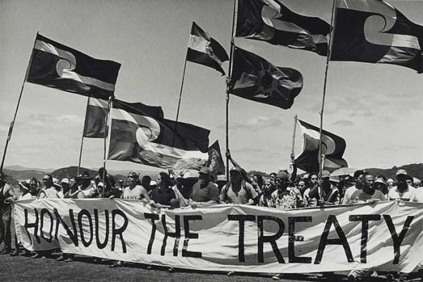 Indigenous Maori demand that New Zealand uphold its treaty obligations, 2000 (credit: Museum of New Zealand Te Papa Tongarewa).