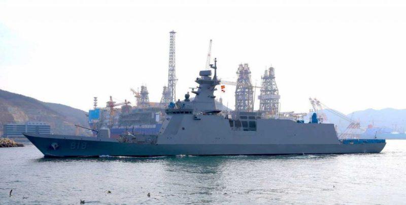 Южная Корея спустила на воду новый фрегат типа Daegu